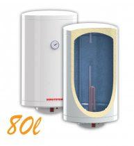 Bojler, Elektromos Vízmelegítő, Villanybojler 80 liter, 3kW fűtőbetét, 440mm átmérő, fali kivitel