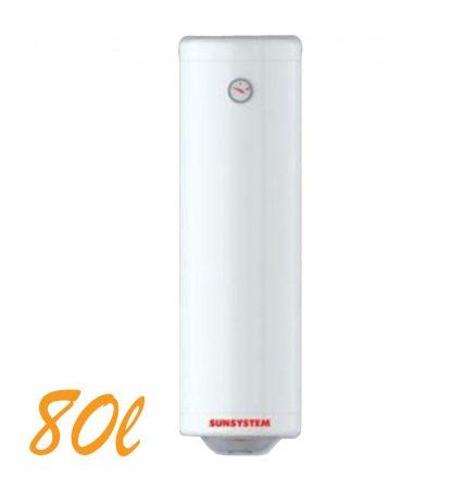 Bojler, Elektromos Vízmelegítő, Villanybojler 80 liter SLIM, 3kW fűtőbetét, 355mm átmérő, fali kivitel