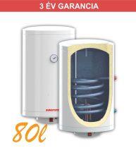 Indirekt melegvíz tároló 80l, 1 hőcserélő, 440mm átmérő, 2kW fűtőbetét, fali kivitel