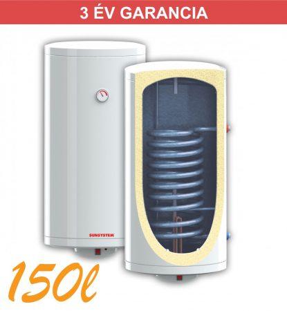 Indirekt melegvíz tároló 150l, 1 hőcserélő, 520mm átmérő, 3kW fűtőbetét, fali kivitel
