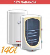 Indirekt melegvíz tároló 140l, 2 hőcserélő, 440mm átmérő, 2kW fűtőbetét, fali kivitel