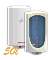 Bojler, Elektromos Vízmelegítő, Villanybojler 50 liter, 2kW fűtőbetét, 355mm átmérő, fali kivitel