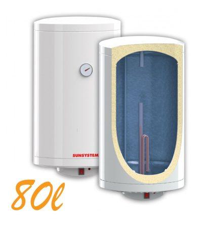 Bojler, Elektromos Vízmelegítő, Villanybojler 80 liter, 2kW fűtőbetét, 440mm átmérő, fali kivitel