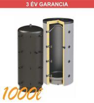 Puffertartály 1000l, hőcserélő nélkül, 990mm átmérő, álló kivitel, fűtési rendszerekhez