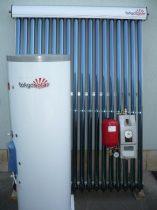 SP01 Tokyo Solar Heat Pipe (hőcsöves), nyomásos, 150 literes, 18 vákuumcsöves split (különálló, oszott) napkollektor rendszer.