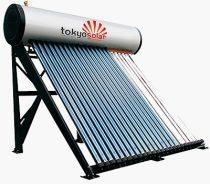 Vákuumcsöves nyomásos napkollektor rendszer 180 literes tartállyal - Tokyo Solar IP01/18 vízmelegítő