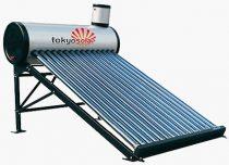 Vákuumcsöves nyomás nélküli napkollektor, ejtőtatályos napkollektor rendszer 240 literes - Tokyo Solar vizmelegítő NO3-24